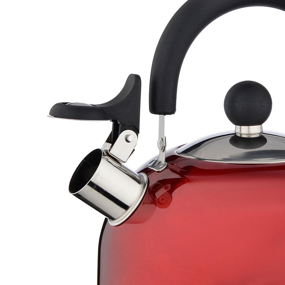 Чайник стальной, 2.5л, красный - 2