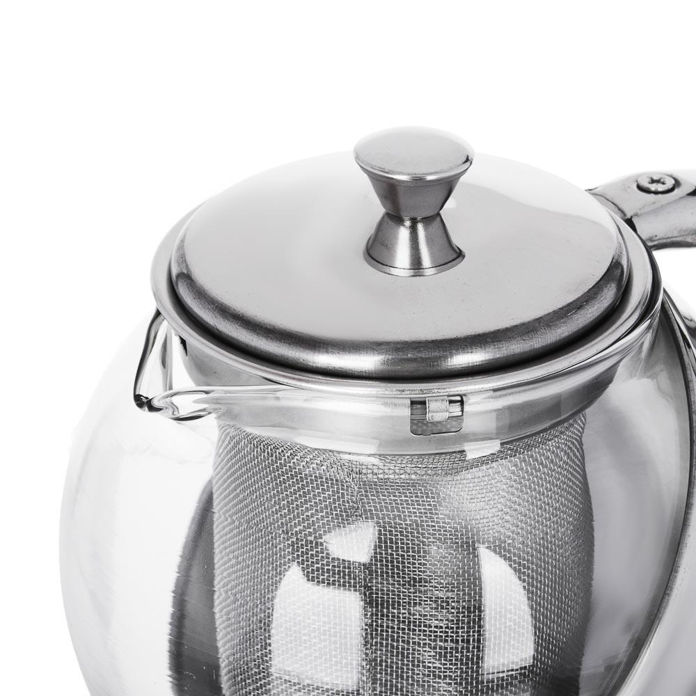 VETTA Чайник заварочный 500мл с ситечком, нерж.сталь, стекло - 2