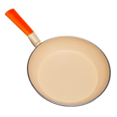 СЛАВЯНА Янтарная Сковорода литая с керамическим покрытием d24см, индукция, GH-24 - 3