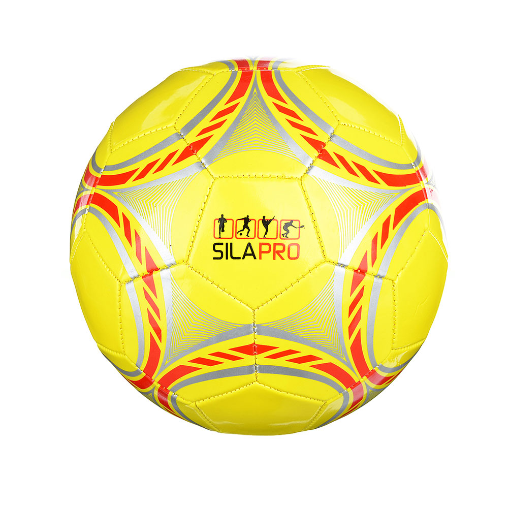 Мяч футбольный, 2 сл, размер 5, 22 см, ПВХ, 4 цвета арт. 001 - 2