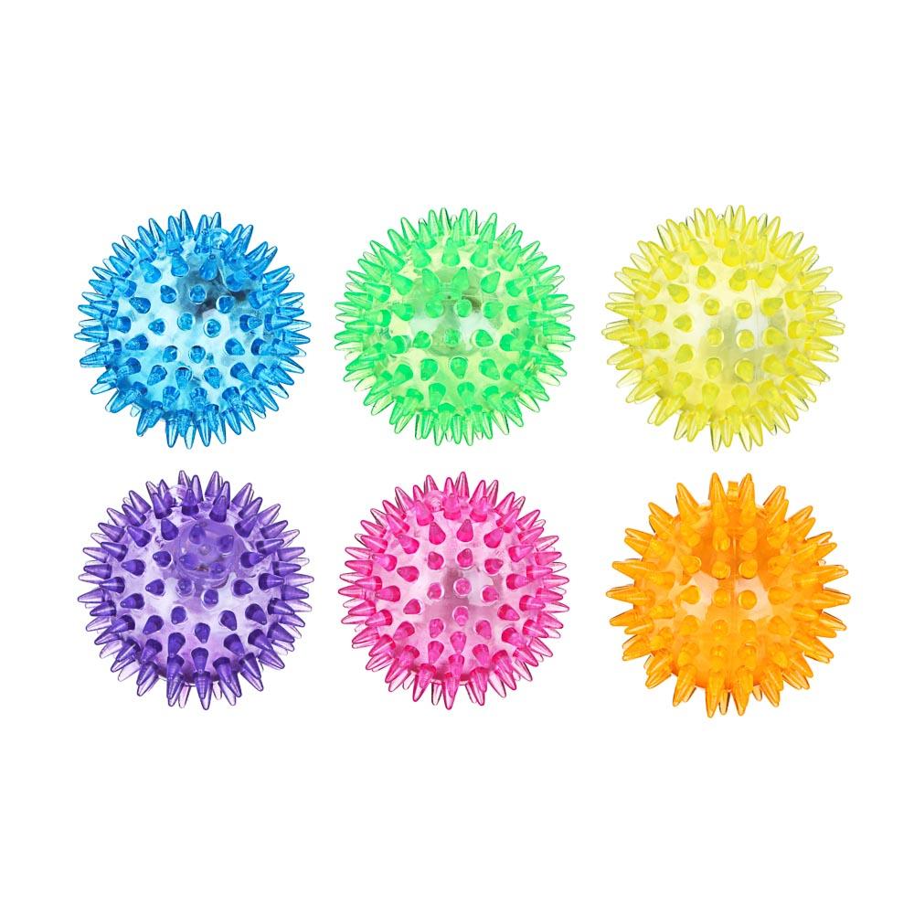 """Мяч световой """"Попрыгунчик-Шипы"""" прозрачный, ПВХ, d6,5см, 6 цветов - 2"""