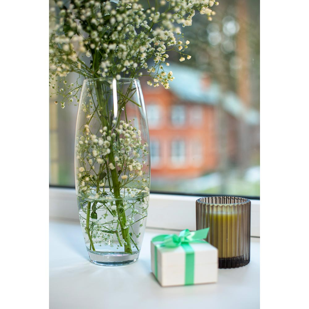"""Pasabahce ваза для цветов стеклянная h-26 см, """"flora"""" - 4"""