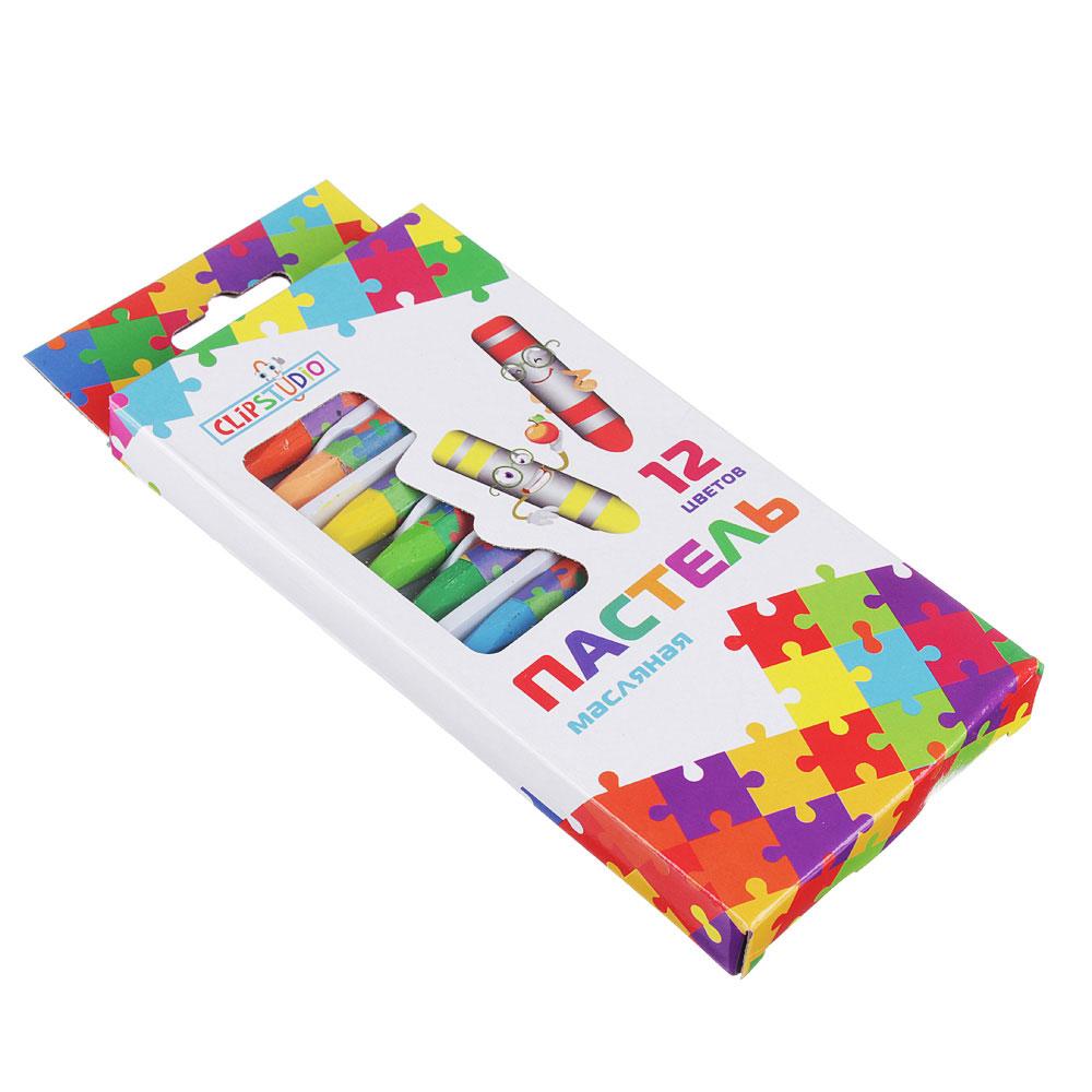 Восковые карандаши, масляная пастель, 12 цветов - 2