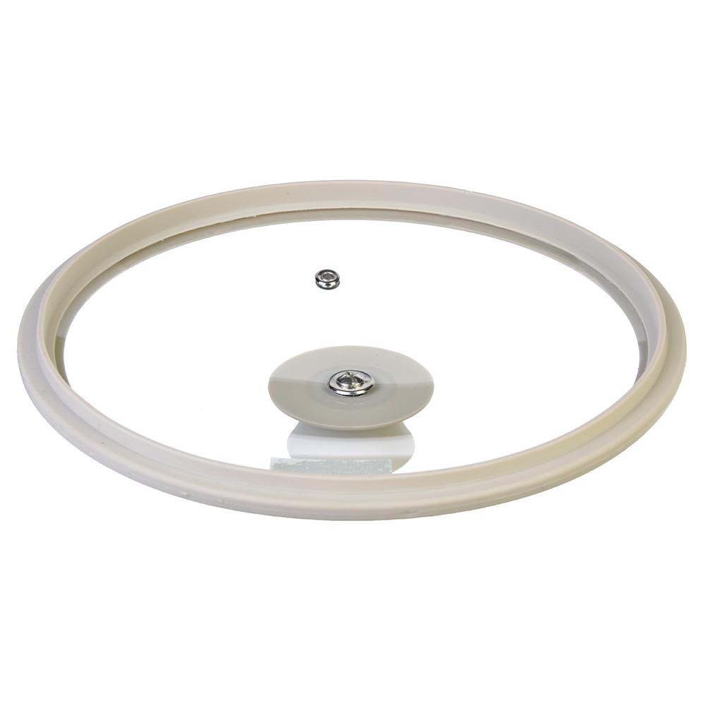 Крышка для сковороды с ручкой, стекло, силикон, 28 см, SATOSHI - 3