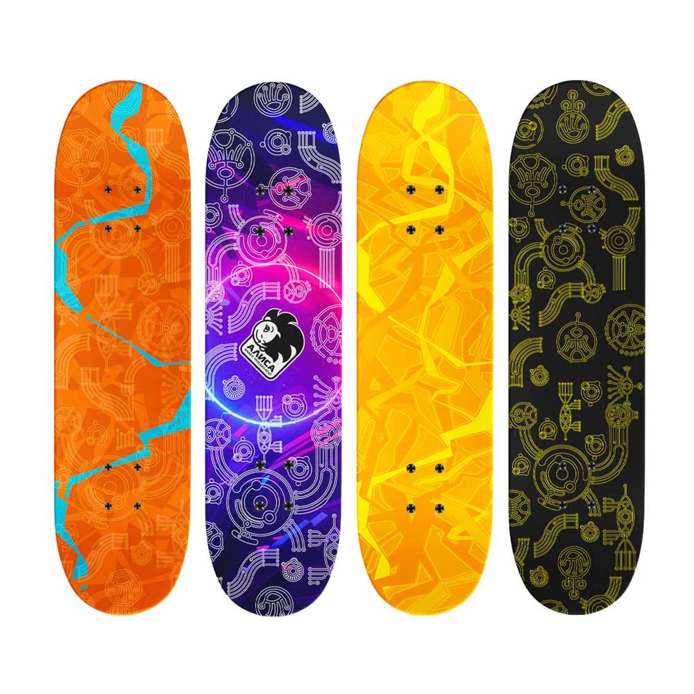 Скейтборд, 43х13 см, Р173, пласт.крепеж, 5030 PVC, макс.нагрузка 30 кг, SILAPRO - 2