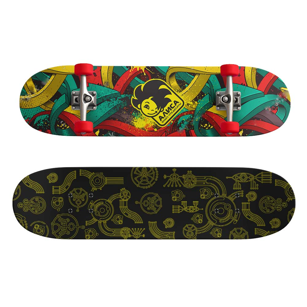 Скейтборд, 43х13 см, Р173, пласт.крепеж, 5030 PVC, макс.нагрузка 30 кг, SILAPRO - 3