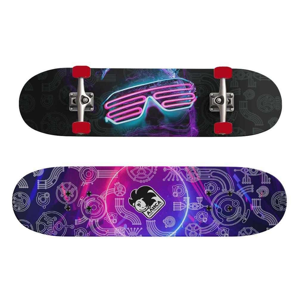 Скейтборд, 43х13 см, Р173, пласт.крепеж, 5030 PVC, макс.нагрузка 30 кг, SILAPRO - 5
