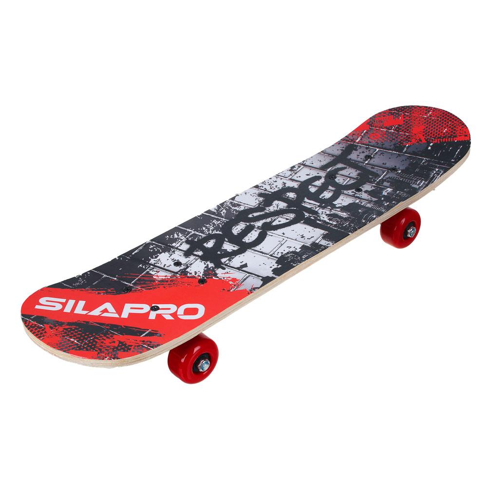 Скейтборд, 61х15 см, Р241-243, пласт.крепеж, 5030 PVC, макс.нагрузка 30 кг, SILAPRO - 2