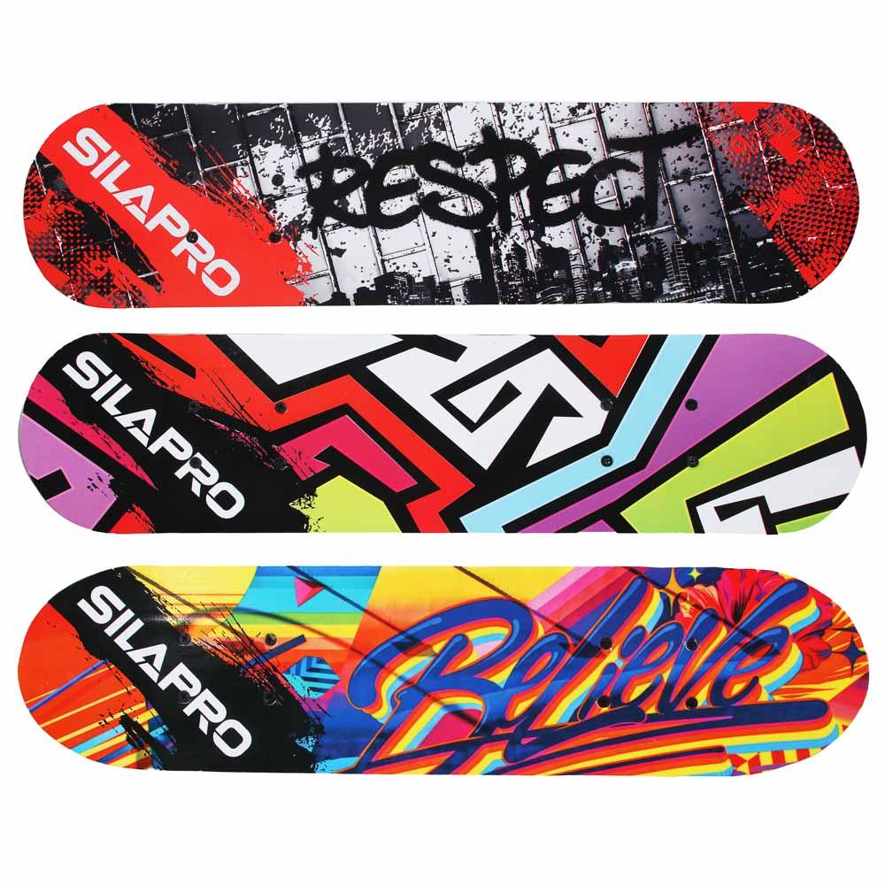 Скейтборд, 61х15 см, Р241-243, пласт.крепеж, 5030 PVC, макс.нагрузка 30 кг, SILAPRO - 3