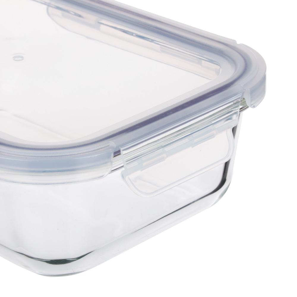 Контейнер для продуктов 1 л VETTA, на защелках, жаропрочное стекло - 2