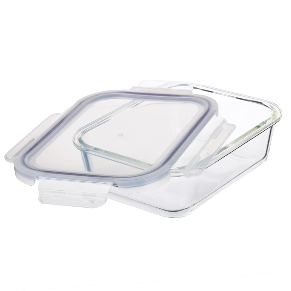 Контейнер для продуктов 1 л VETTA, на защелках, жаропрочное стекло - 3