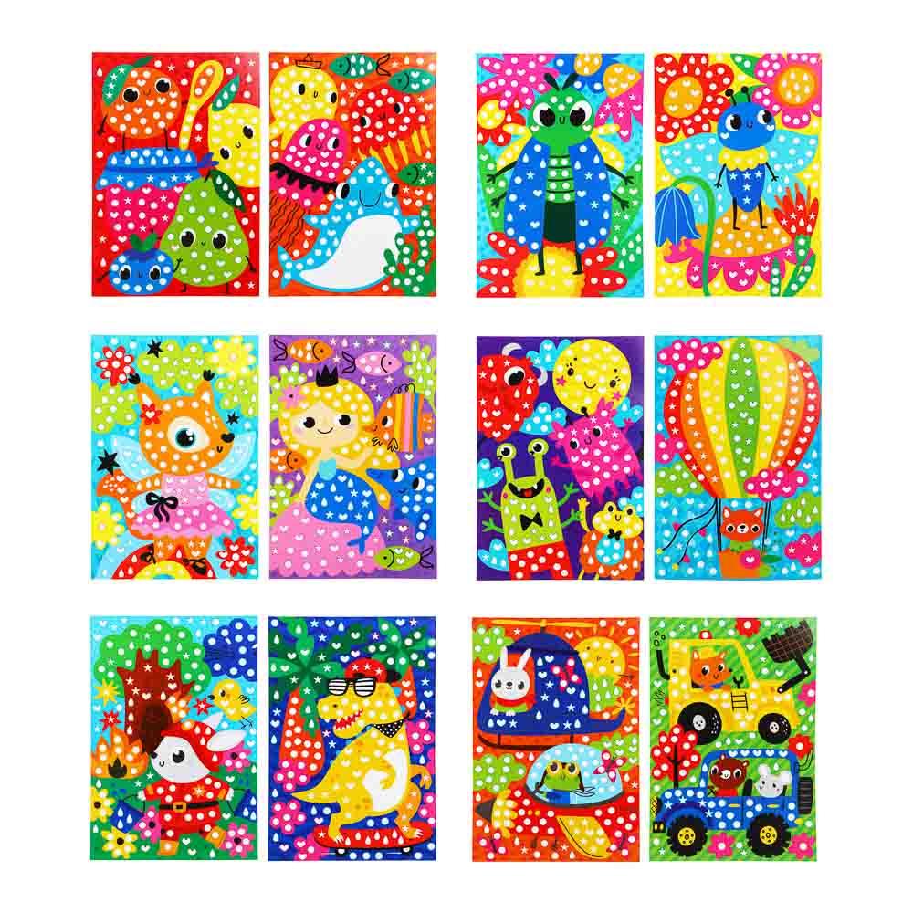 """Аппликация из самоклеящихся наклеек """"Кружочек"""", 2 картинки, наклейки, бумага, 21х30см, 4 дизайна - 2"""