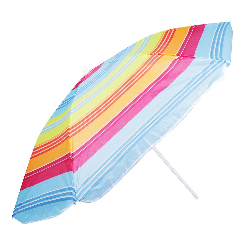 Зонт пляжный Яркое лето, 170Т, полиэстер, d160см, h170см, 16/19мм стойка, в чехле, 4 диз. - 3
