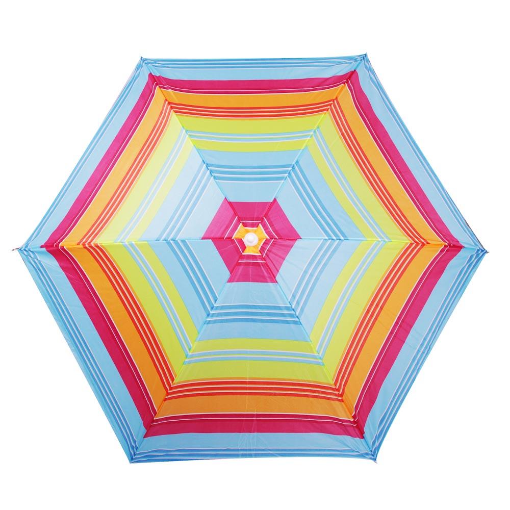 Зонт пляжный Яркое лето, 170Т, полиэстер, d160см, h170см, 16/19мм стойка, в чехле, 4 диз. - 4