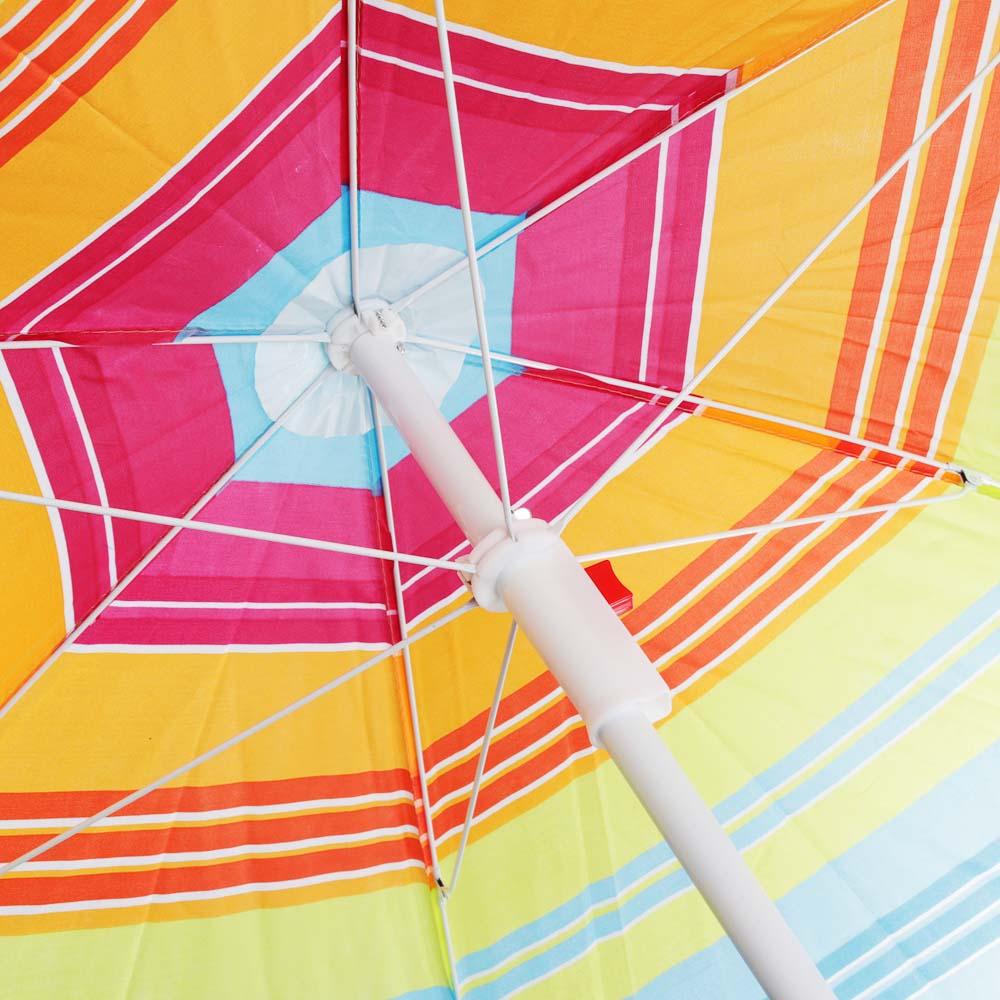 Зонт пляжный Яркое лето, 170Т, полиэстер, d160см, h170см, 16/19мм стойка, в чехле, 4 диз. - 5