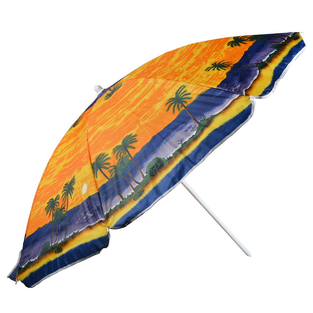 Яркое лето Зонт пляжный, 210D, полиэстер, d160см, h180см, 19/22мм стойка, в чехле, 3 диз. - 2