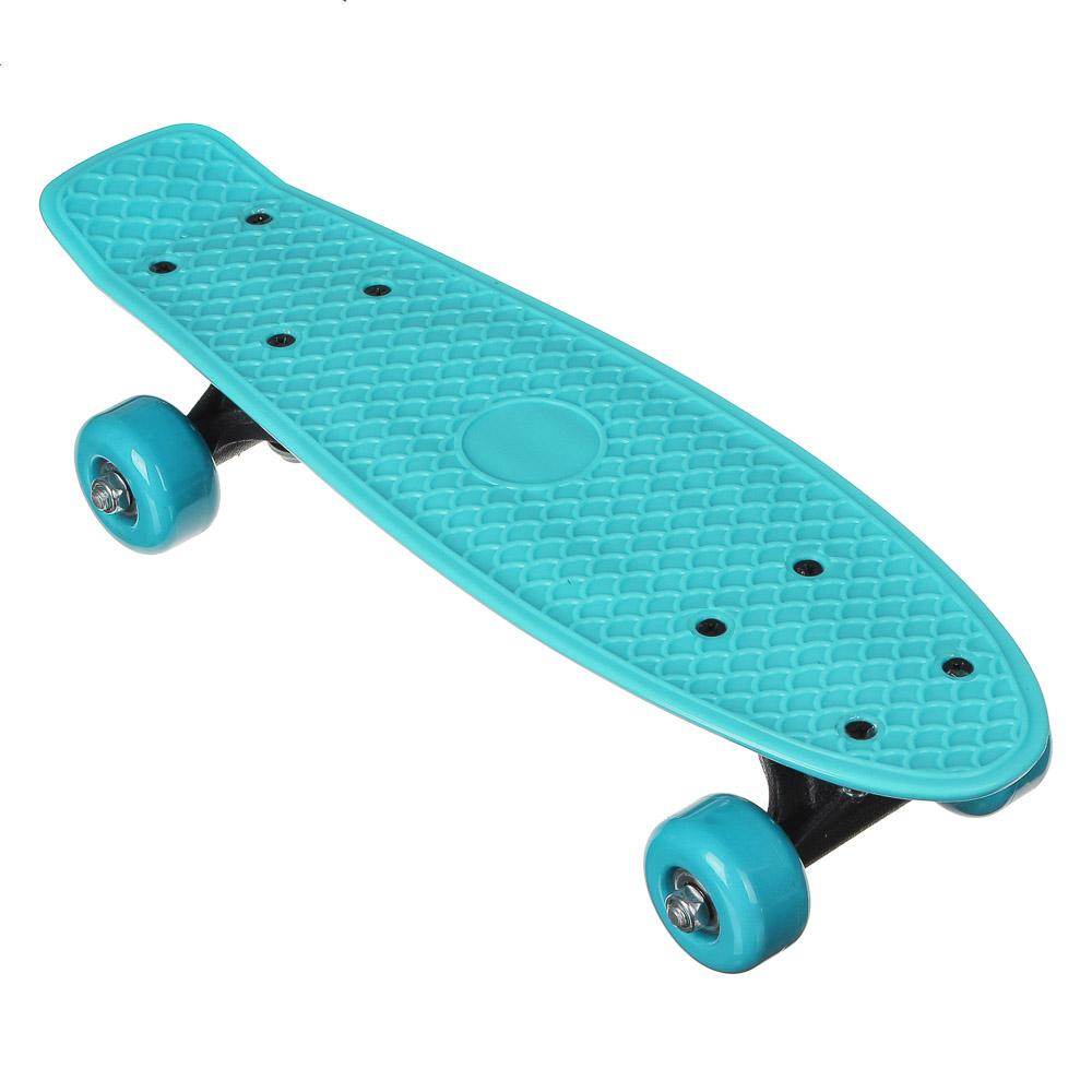 Скейтборд, 41х12 см, ABS пластик, пласт.крепеж, 5030 PVC 608Z, макс.нагрузка 30 кг, SILAPRO, 1705F - 2