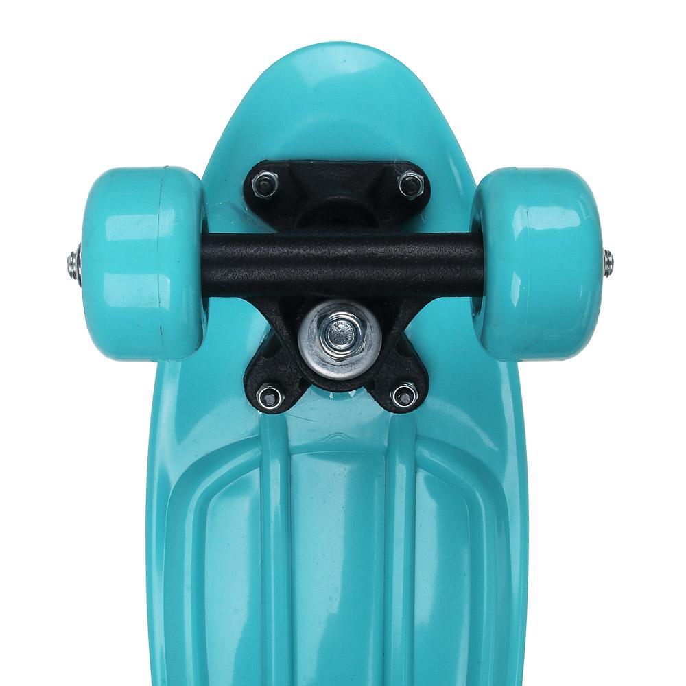 Скейтборд, 41х12 см, ABS пластик, пласт.крепеж, 5030 PVC 608Z, макс.нагрузка 30 кг, SILAPRO, 1705F - 4