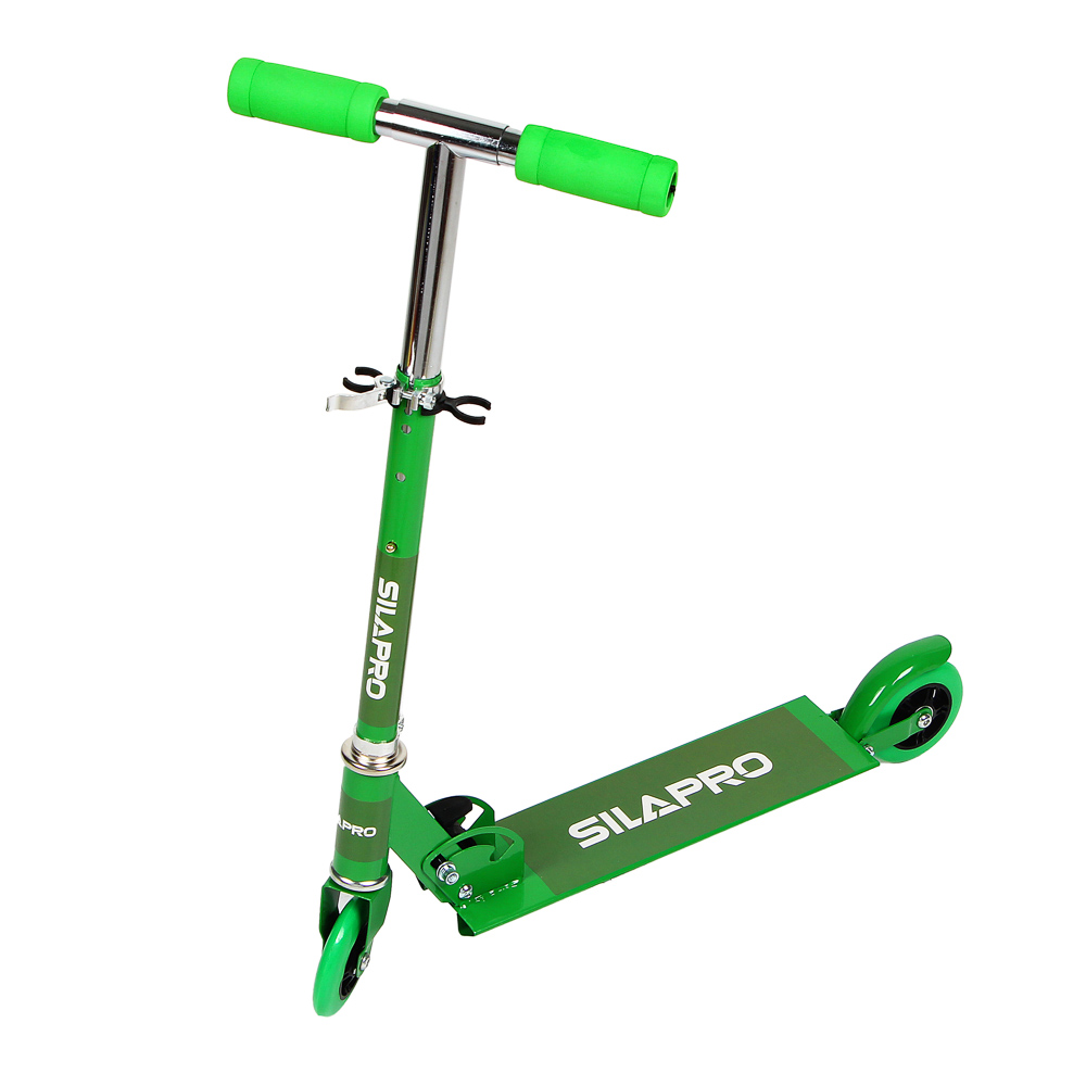 Самокат 2-х колесный,колеса ПВХ, d 95 мм, металл, до 40 кг, 56х75(53)х25 см, 3 цвета, SILAPRO, 015 - 2