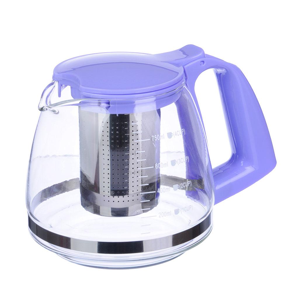 Чайник заварочный 750 мл VETTA, ситечко из нержавеющей стали, стекло/пластик - 2