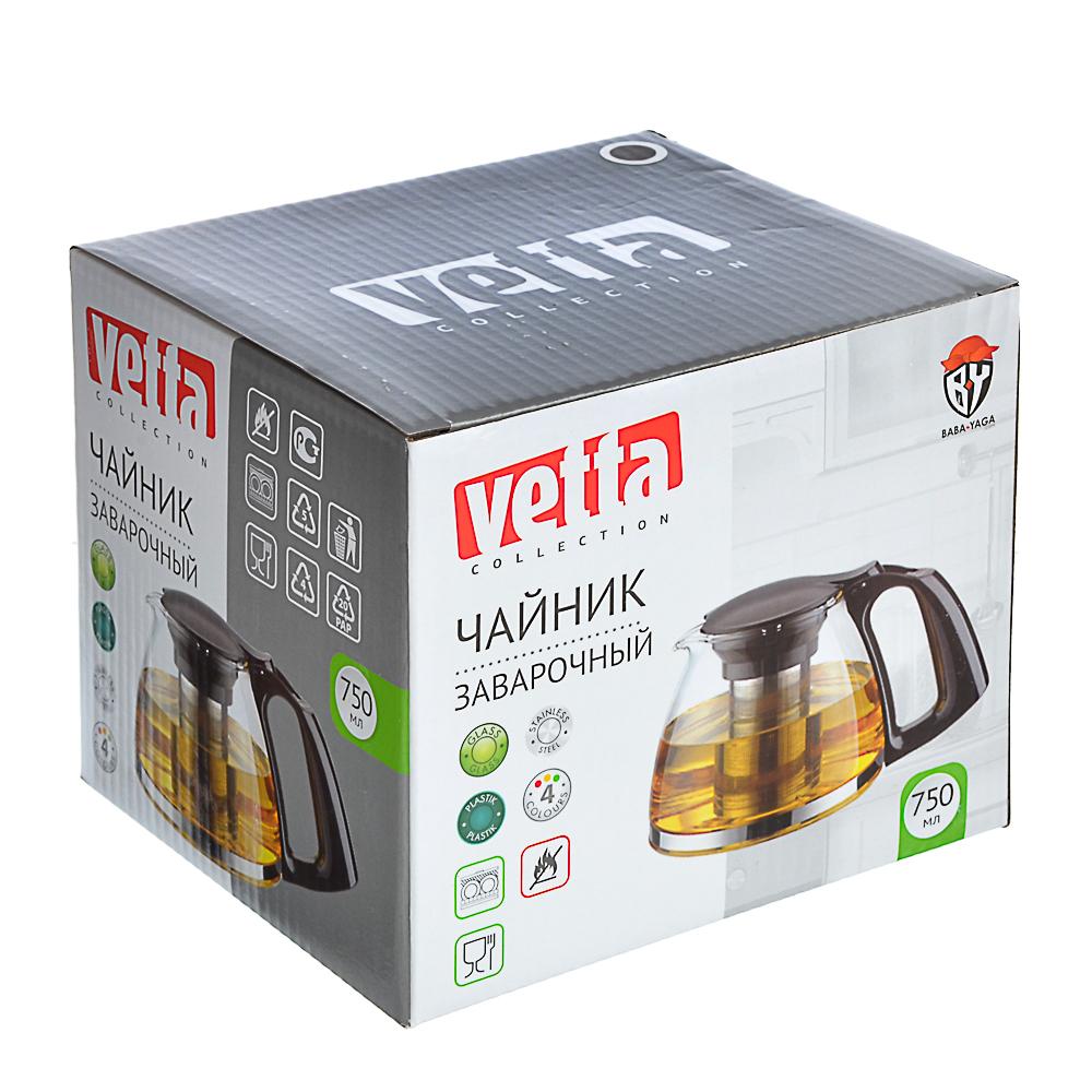 Чайник заварочный 750 мл VETTA, ситечко из нержавеющей стали, стекло/пластик - 4
