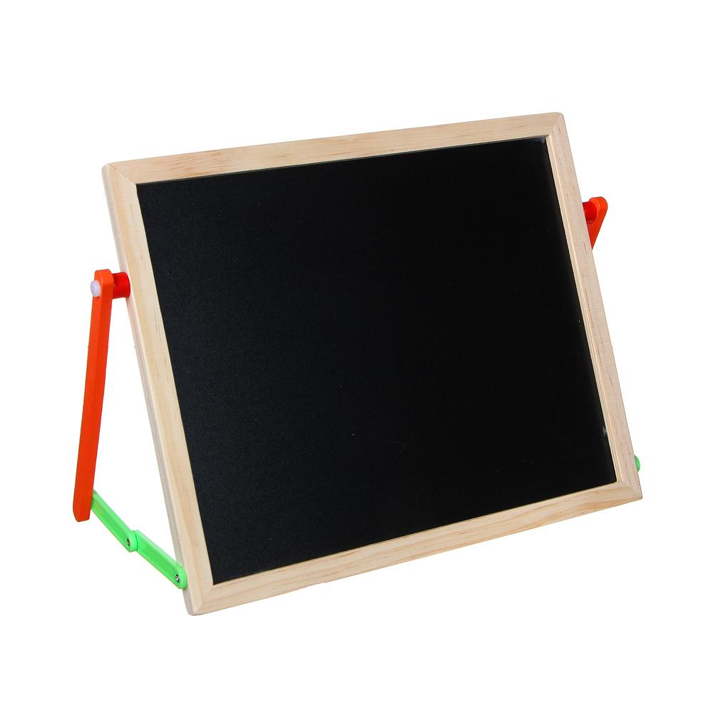 Доска магнитно-маркерная + алфавит, цифры, маркер, мелки 4шт, губка, 37х28см, дерево, пластик - 2