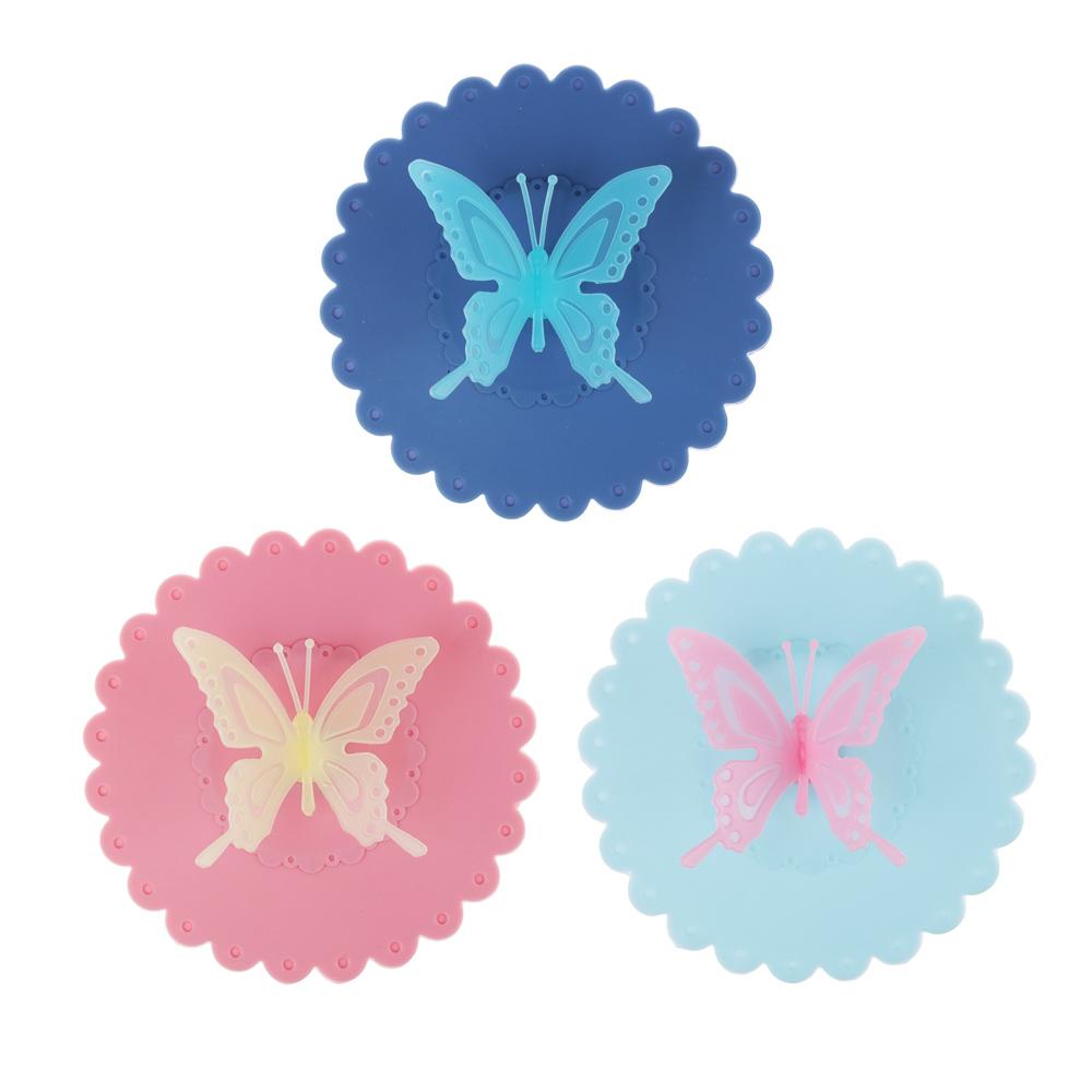 """Крышка для кружки VETTA силикон, 10,5 см, """"Бабочка"""", 3 цвета - 2"""