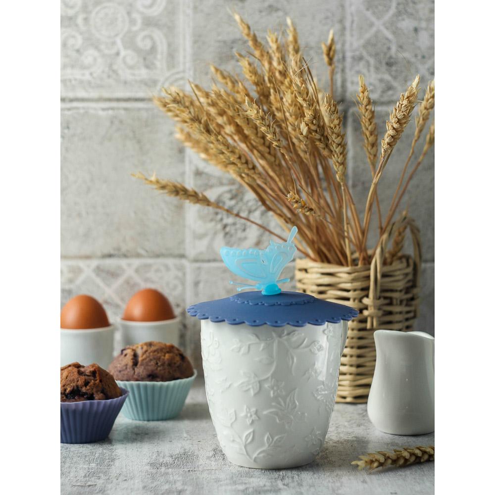 """Крышка для кружки VETTA силикон, 10,5 см, """"Бабочка"""", 3 цвета - 5"""