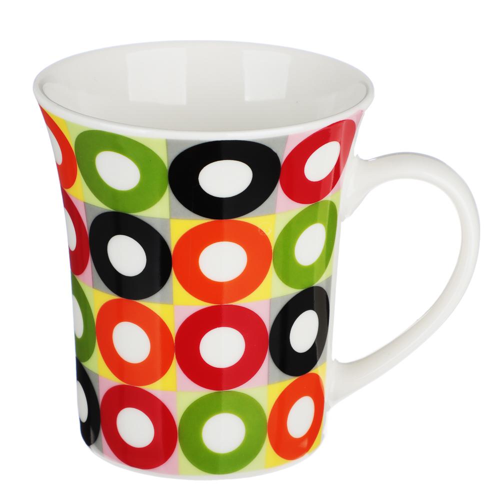 """Кружка фарфоровая 350 мл, 4 цвета, """"Кофе-1"""" - 2"""