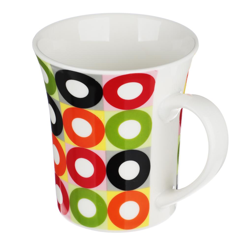 """Кружка фарфоровая 350 мл, 4 цвета, """"Кофе-1"""" - 3"""