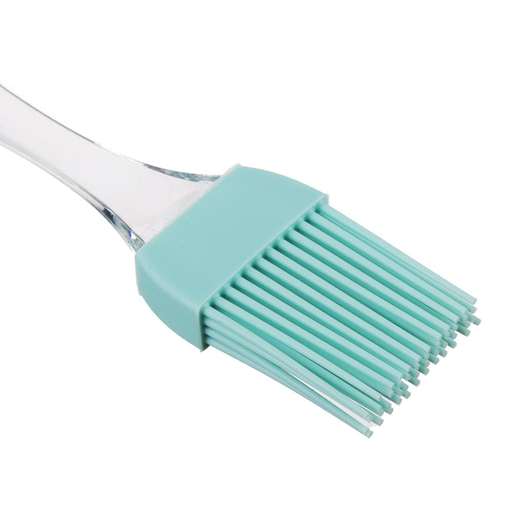 Набор для выпечки 2 предмета: кисточка, лопатка, силикон, 3 цвета - 4