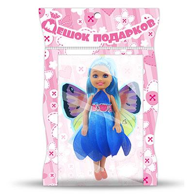 МЕШОК ПОДАРКОВ Кукла с крыльями, пластик, полиэстер, 14см, 3 дизайна, 100991621 - 2