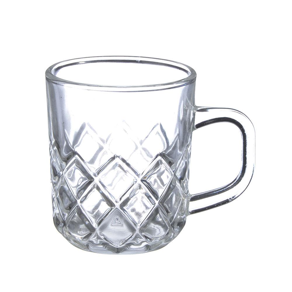 Кружка стеклянная, 230 мл, прозрачная с дизайном - 2