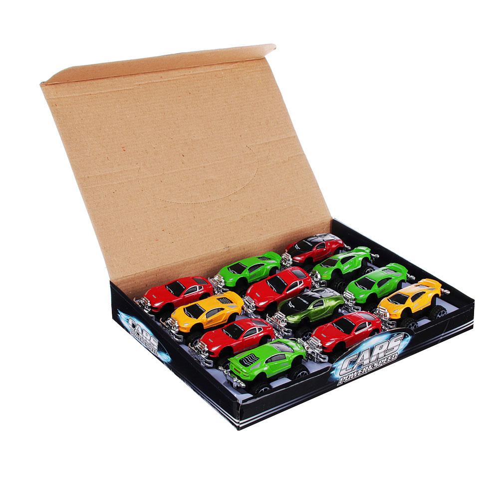 """Машинка инерционная """"Спортивная"""", пластик, 12х7х6,5см, 12 цветов, 399-64D - 3"""