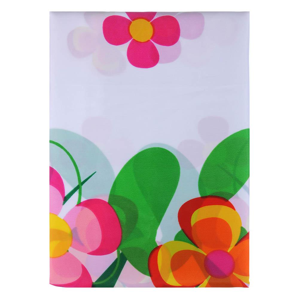 """VETTA Шторка для ванной, ткань полиэстер с утяжелит, 180x180см, """"Зелёная поляна"""", Дизайн GC - 2"""