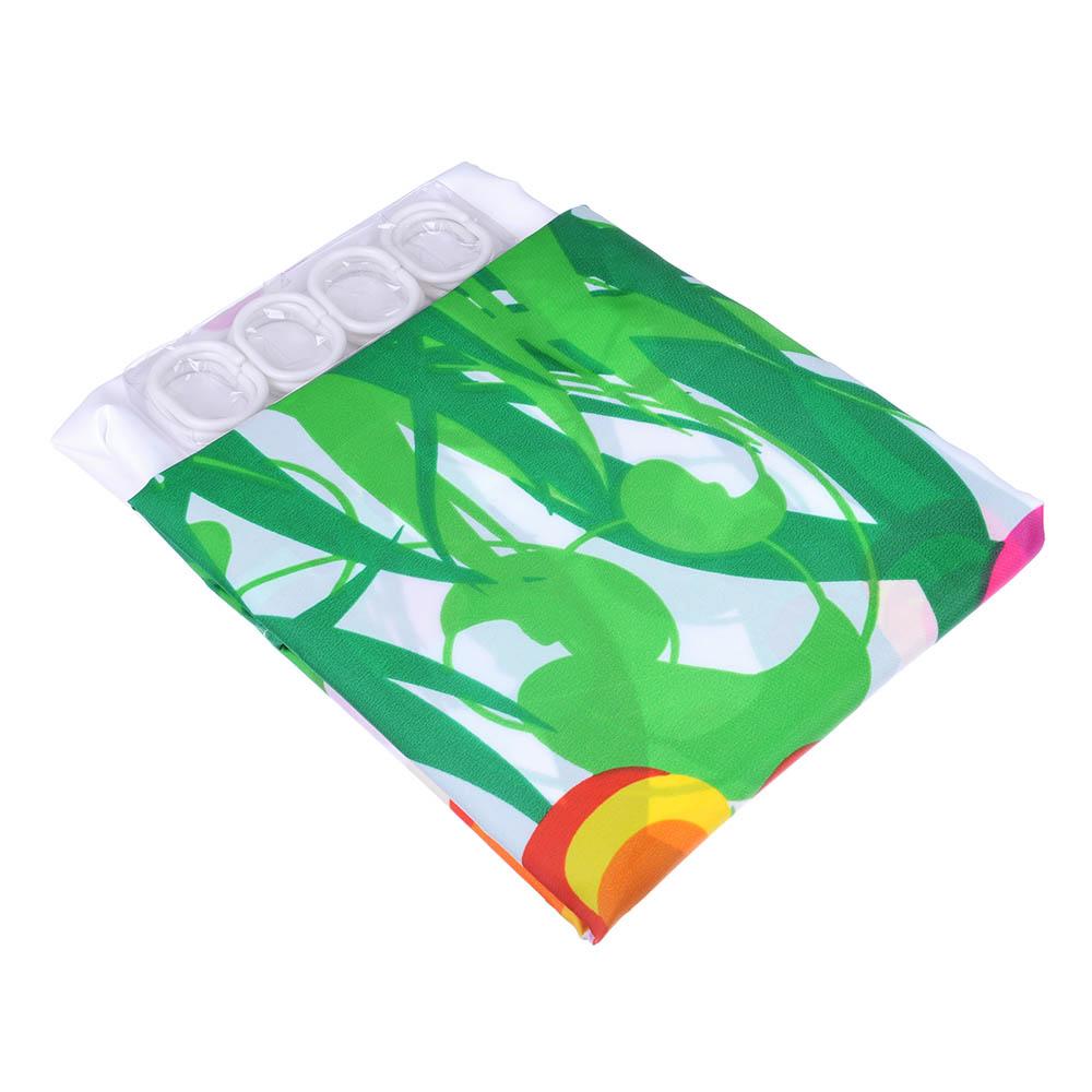 """VETTA Шторка для ванной, ткань полиэстер с утяжелит, 180x180см, """"Зелёная поляна"""", Дизайн GC - 3"""