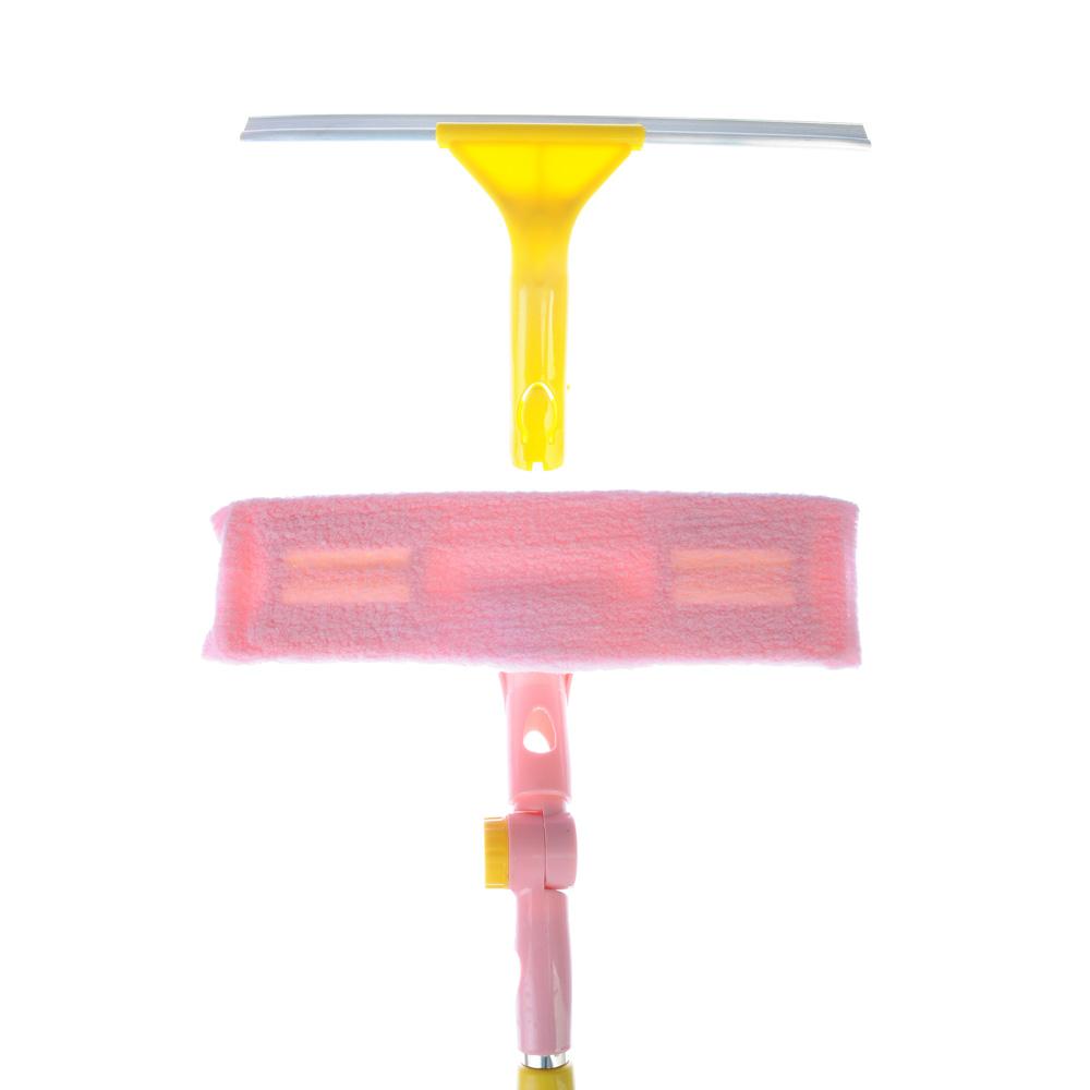 VETTA Окномойка со съемным скребком доп.насадка из микроф. 29см., телескоп.черенок 130см нерж.сталь - 2