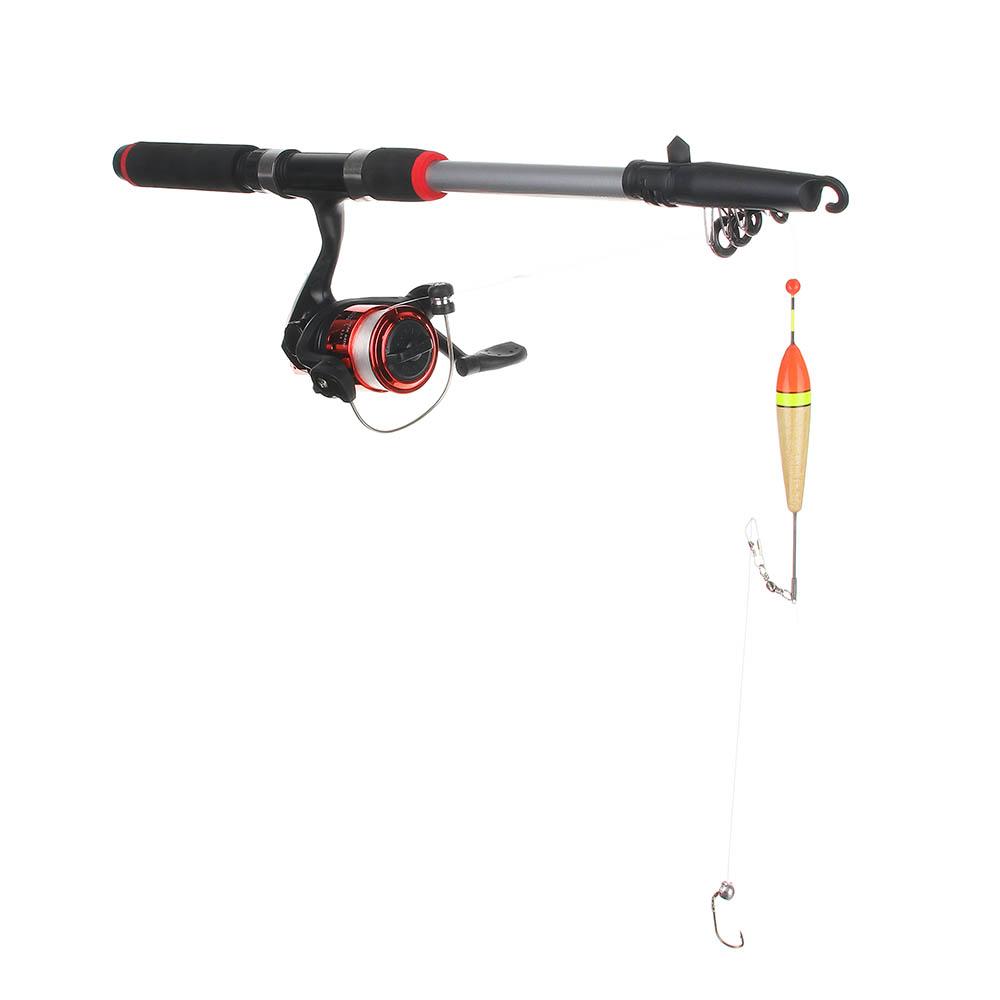 Набор рыбака AZOR FISHING: Удочка, карбон, катушка, леска, грузила, бусины - 2