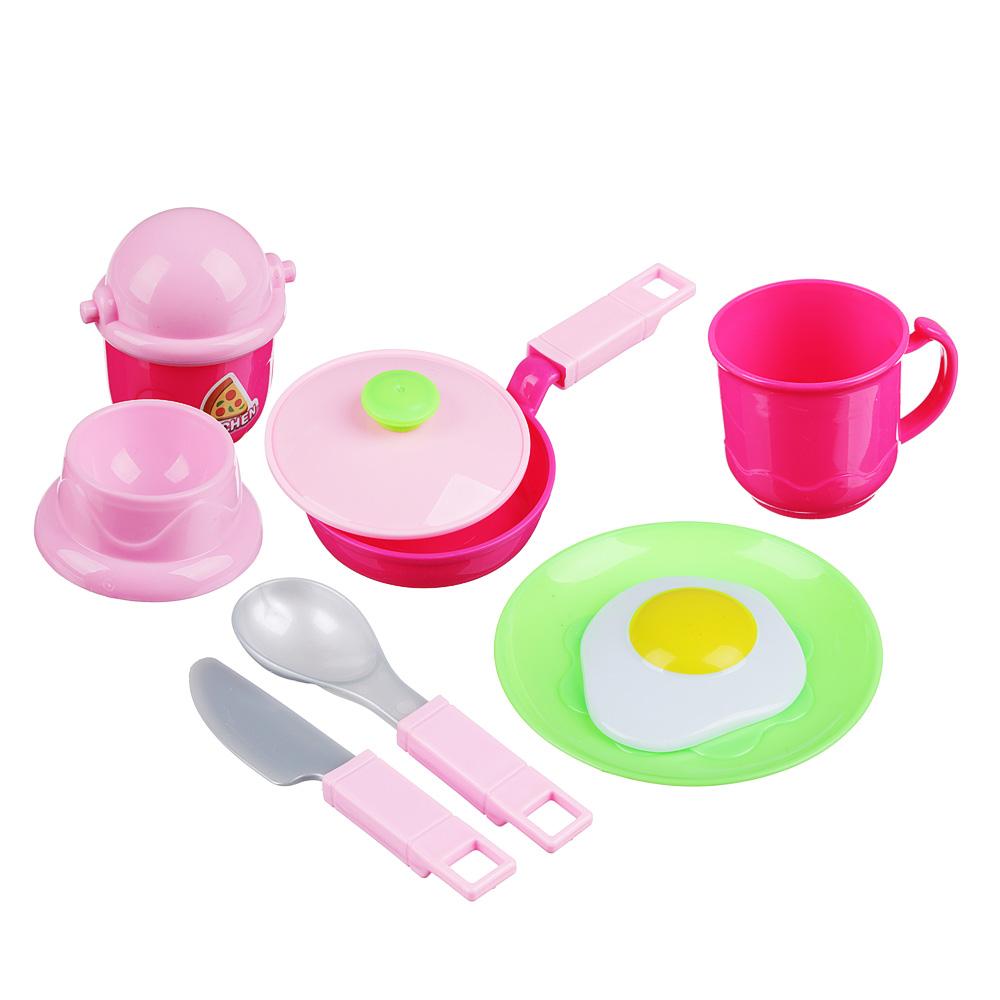 ИГРОЛЕНД Набор детской посуды, пластик, 32х24х4см, 4 дизайна, WD-H47/53 - 2
