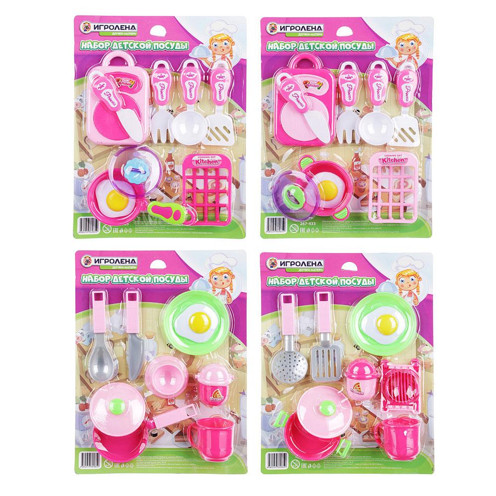 ИГРОЛЕНД Набор детской посуды, пластик, 32х24х4см, 4 дизайна, WD-H47/53 - 3