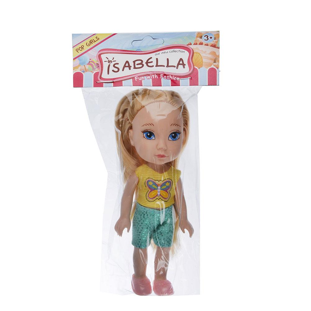Кукла в платье принцессы, пластик, полиэстер, 14см, 8 дизайнов, YL1603K-B/C - 2