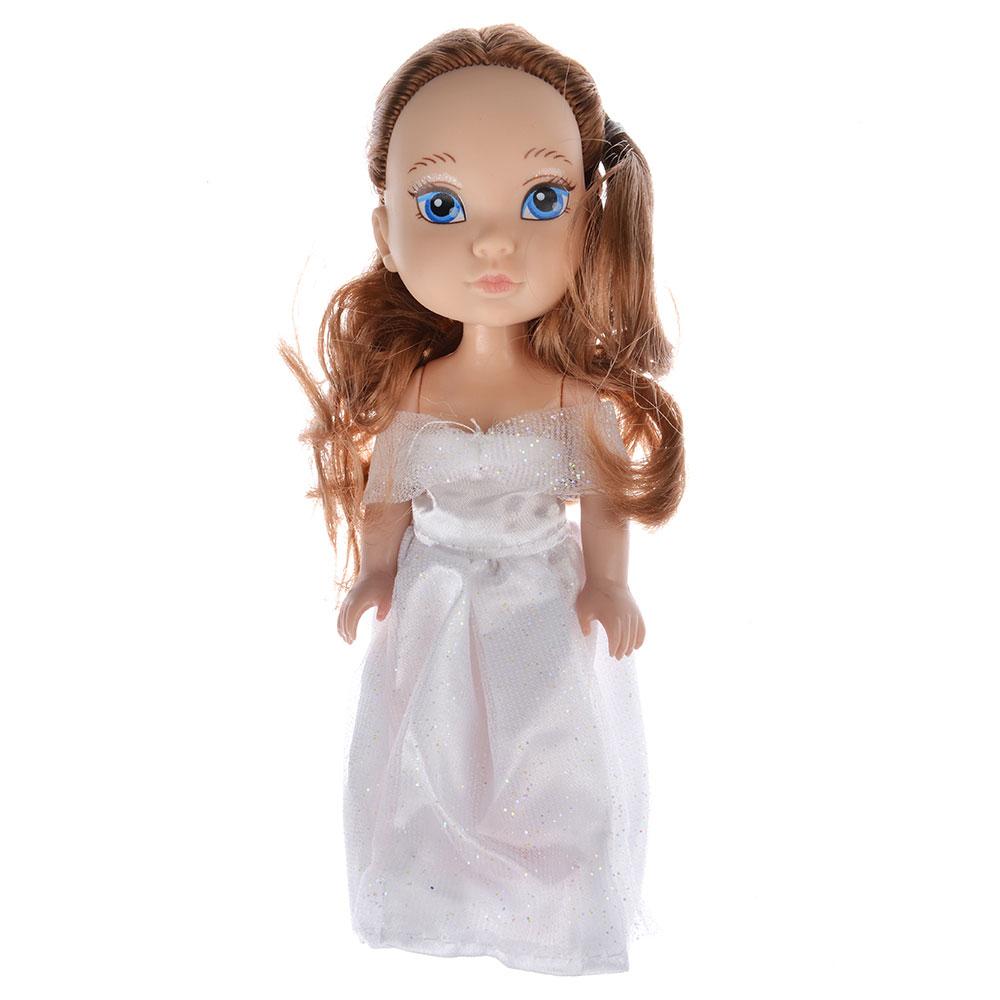 Кукла в платье принцессы, пластик, полиэстер, 14см, 8 дизайнов, YL1603K-B/C - 3