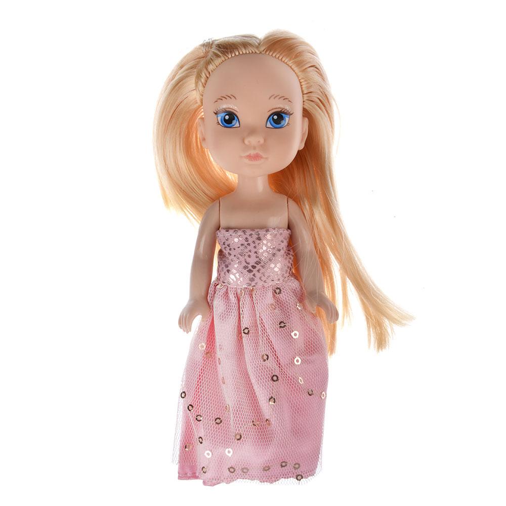 Кукла в платье принцессы, пластик, полиэстер, 14см, 8 дизайнов, YL1603K-B/C - 4