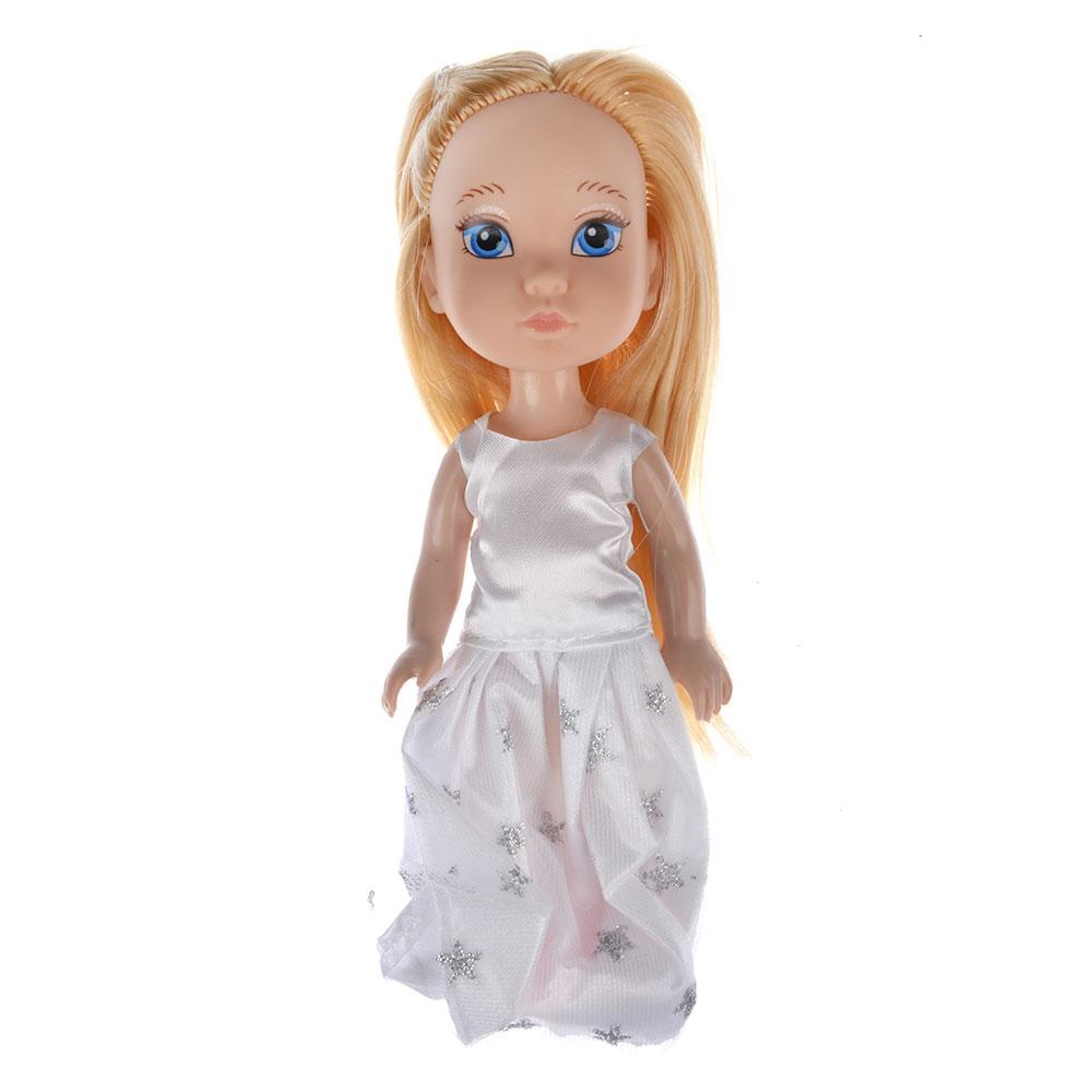 Кукла в платье принцессы, пластик, полиэстер, 14см, 8 дизайнов, YL1603K-B/C - 5
