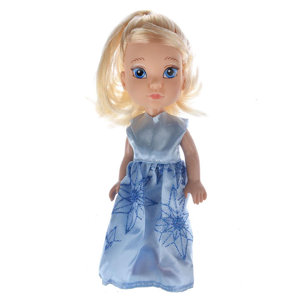 Кукла в платье принцессы, пластик, полиэстер, 14см, 8 дизайнов, YL1603K-B/C - 6
