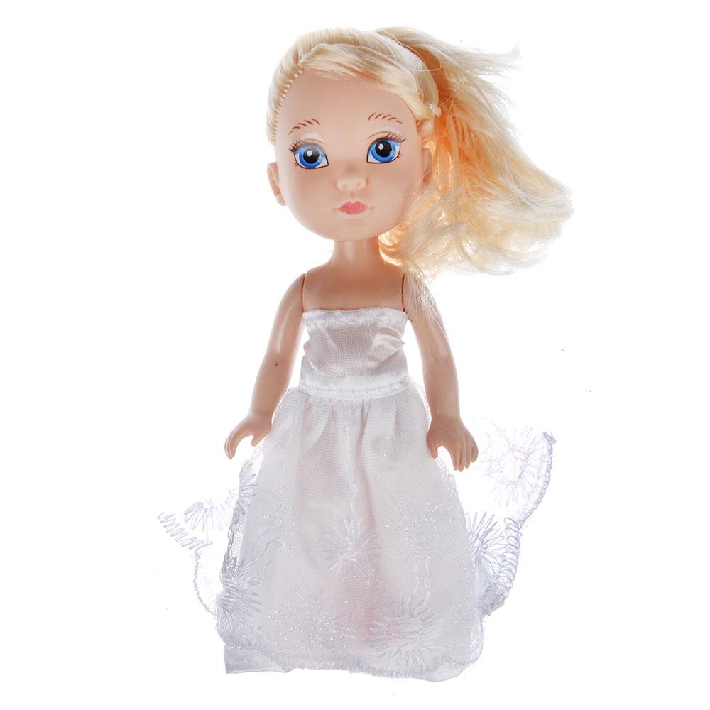 Кукла в платье принцессы, пластик, полиэстер, 14см, 8 дизайнов, YL1603K-B/C - 7