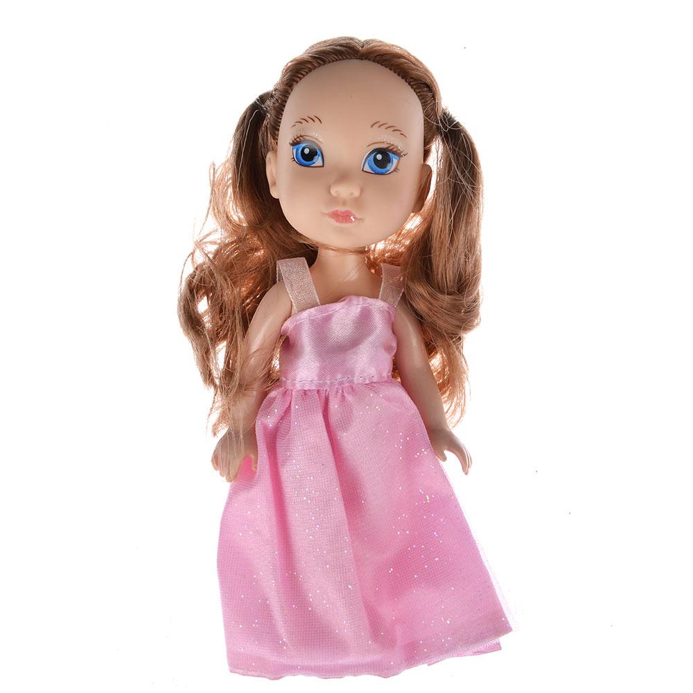 Кукла в платье принцессы, пластик, полиэстер, 14см, 8 дизайнов, YL1603K-B/C - 8