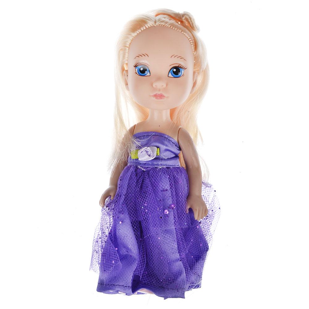 Кукла в платье принцессы, пластик, полиэстер, 14см, 8 дизайнов, YL1603K-B/C - 9