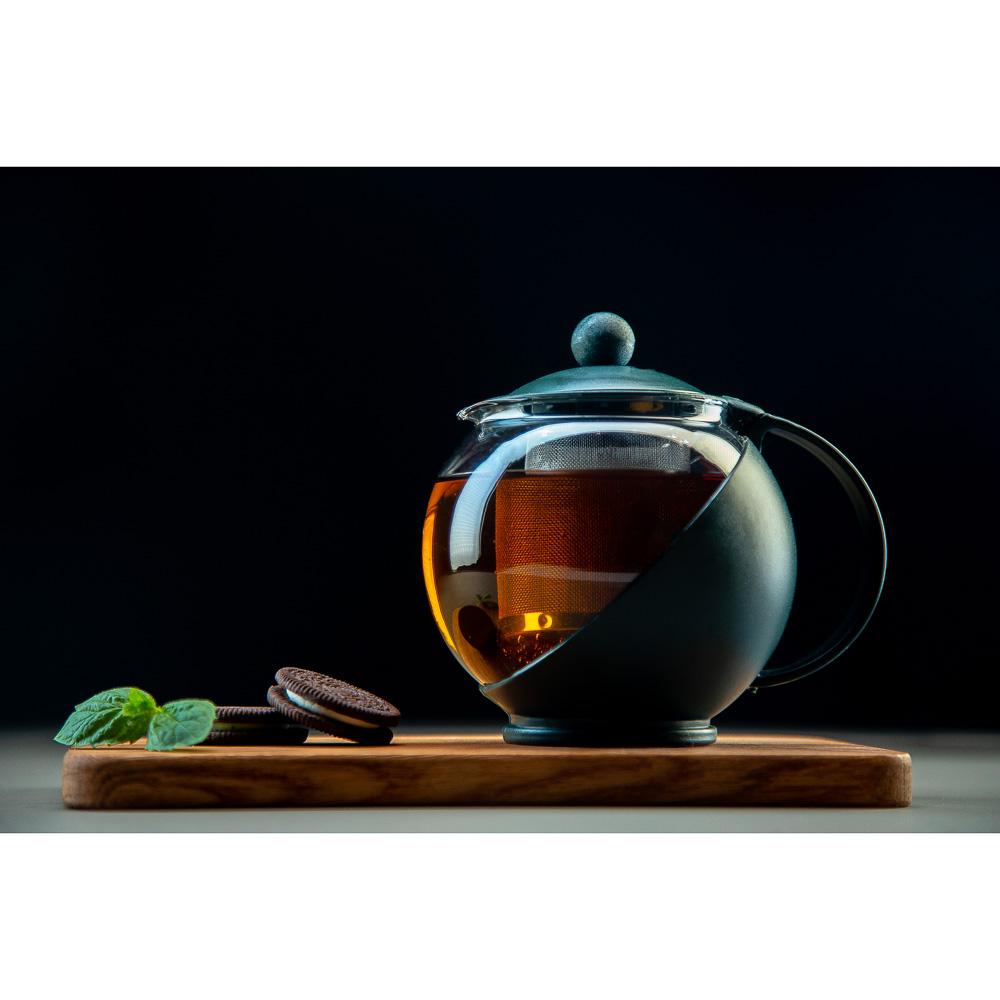 Чайник заварочный 500 мл, ситечко из нержавеющей стали, стекло/пластик - 4