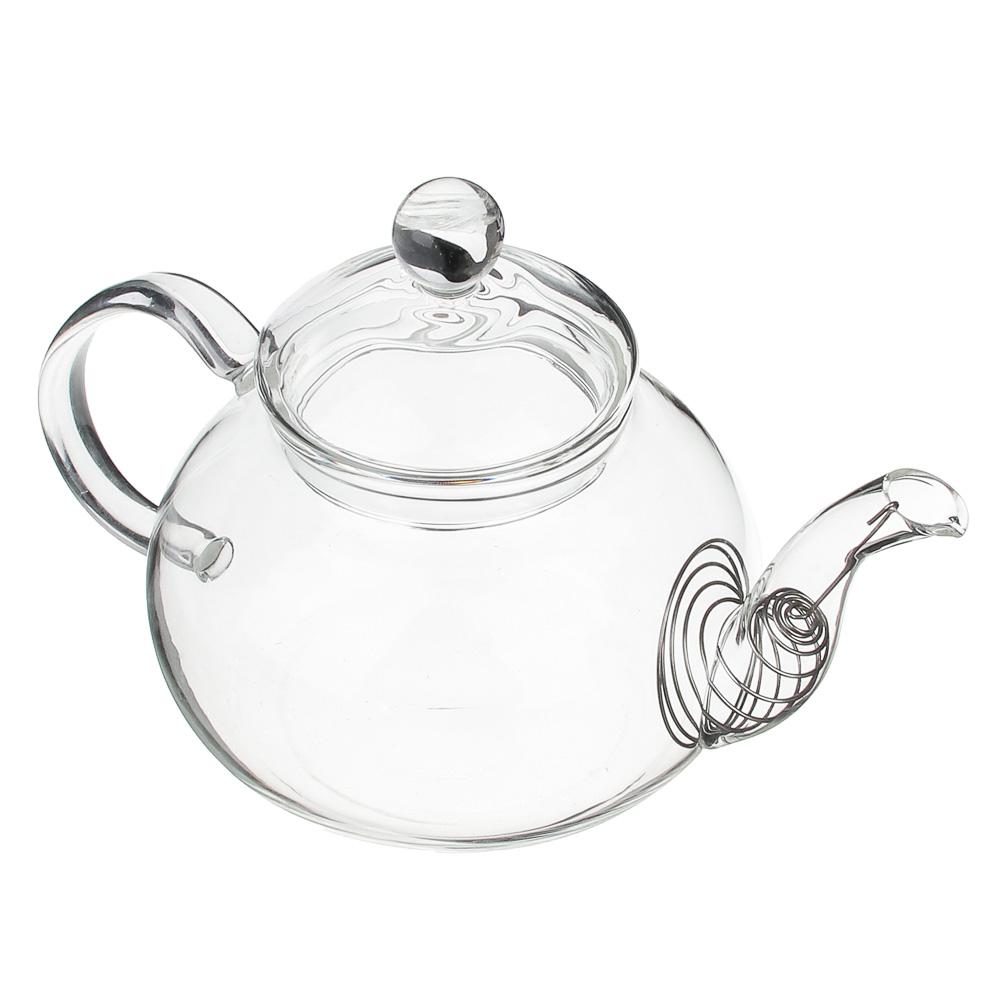 Чайник заварочный 600 мл VETTA, с металлическим фильтром, стекло - 2